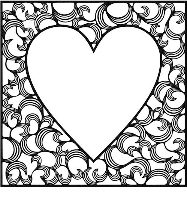 valentines heart coloring pages valentines day coloring pages for adults best coloring heart pages valentines coloring