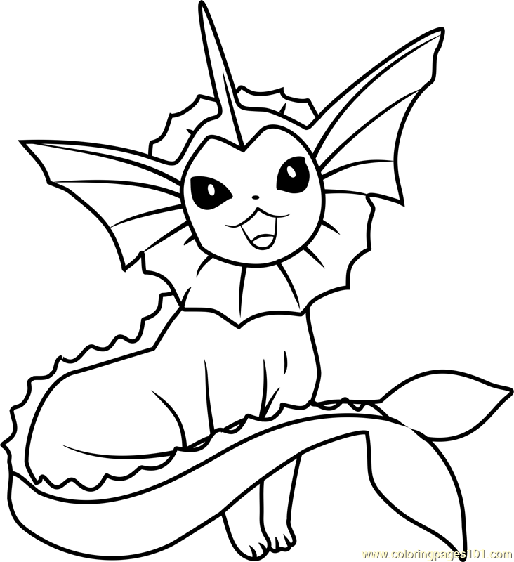 vaporeon pokemon coloring pages the best free vaporeon coloring page images download from pages vaporeon coloring pokemon