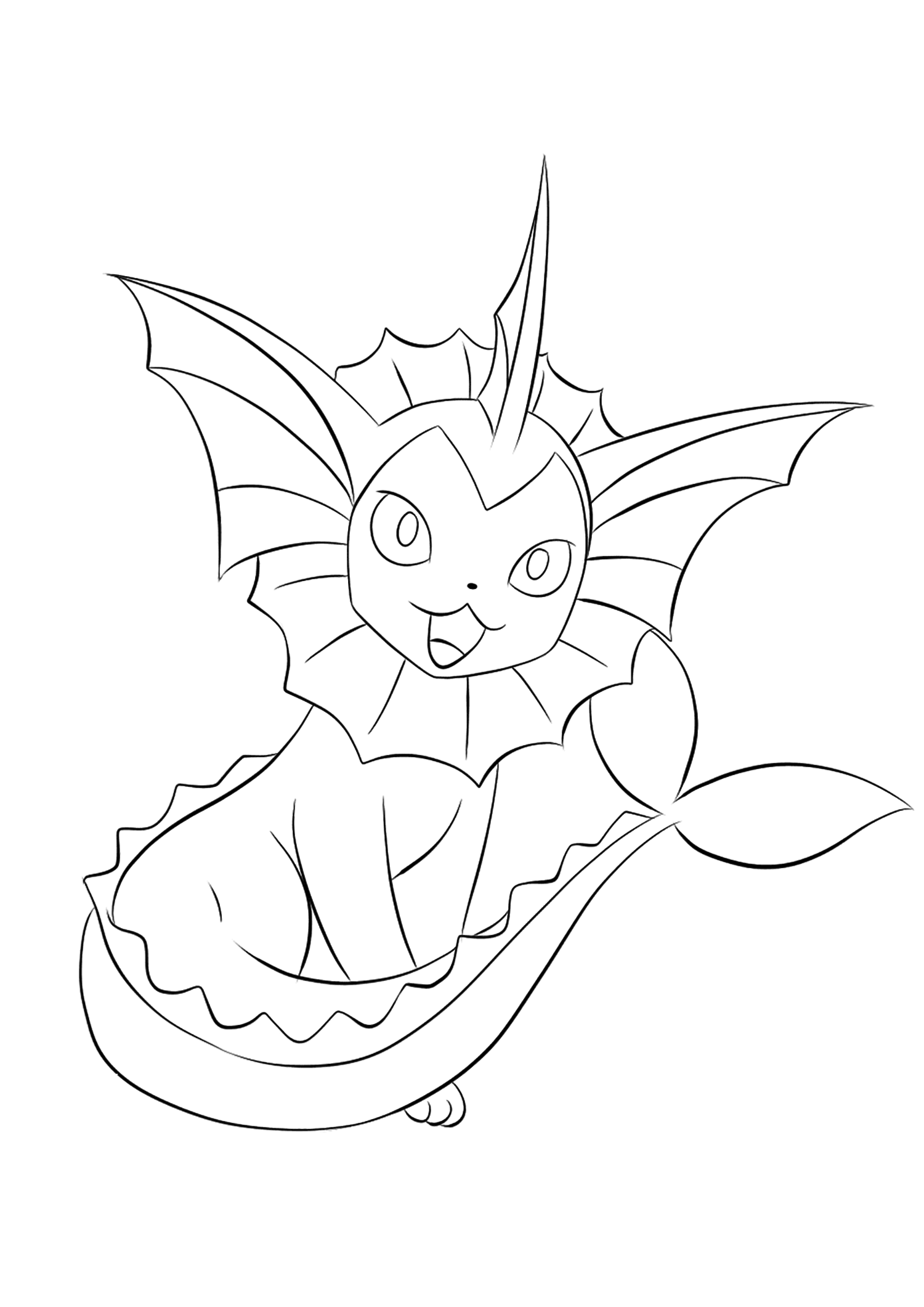 vaporeon pokemon coloring pages vaporeon coloring page by bellatrixie white on deviantart pages pokemon coloring vaporeon