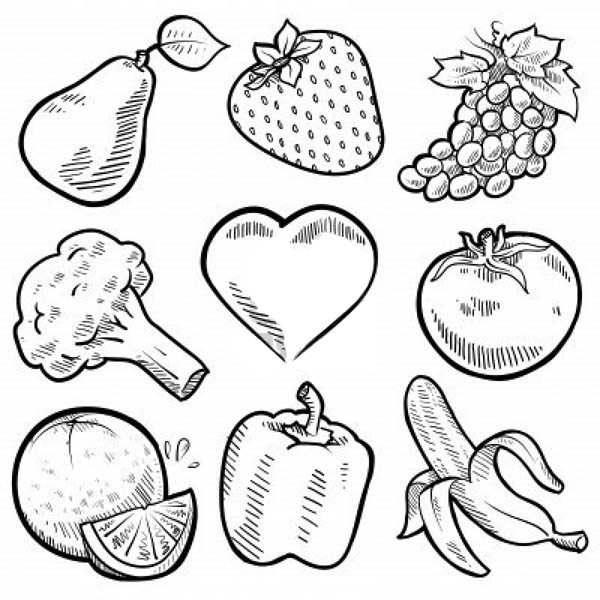 vegetable pictures to colour nine healthy vegetables for veggies coloring page kids vegetable pictures colour to