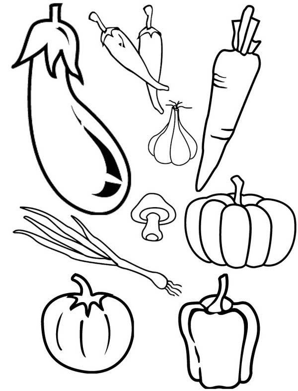 vegetable pictures to colour types of cornucopia vegetables coloring page kids play color colour pictures to vegetable