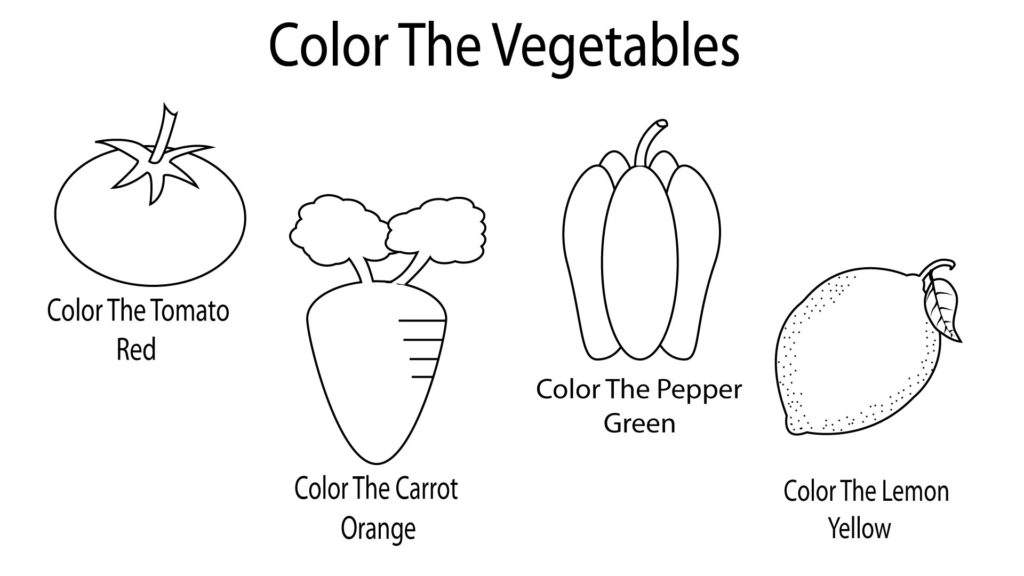vegetable pictures to colour vegetable coloring pages for preschoolers toddlers vegetable pictures to colour