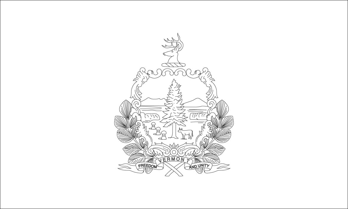 vermont state flag coloring page large printable vermont state flag to color from flag state vermont page coloring