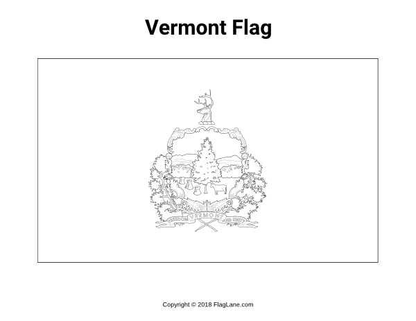 vermont state flag coloring page vermont state flag coloring page top free printable state page coloring flag vermont