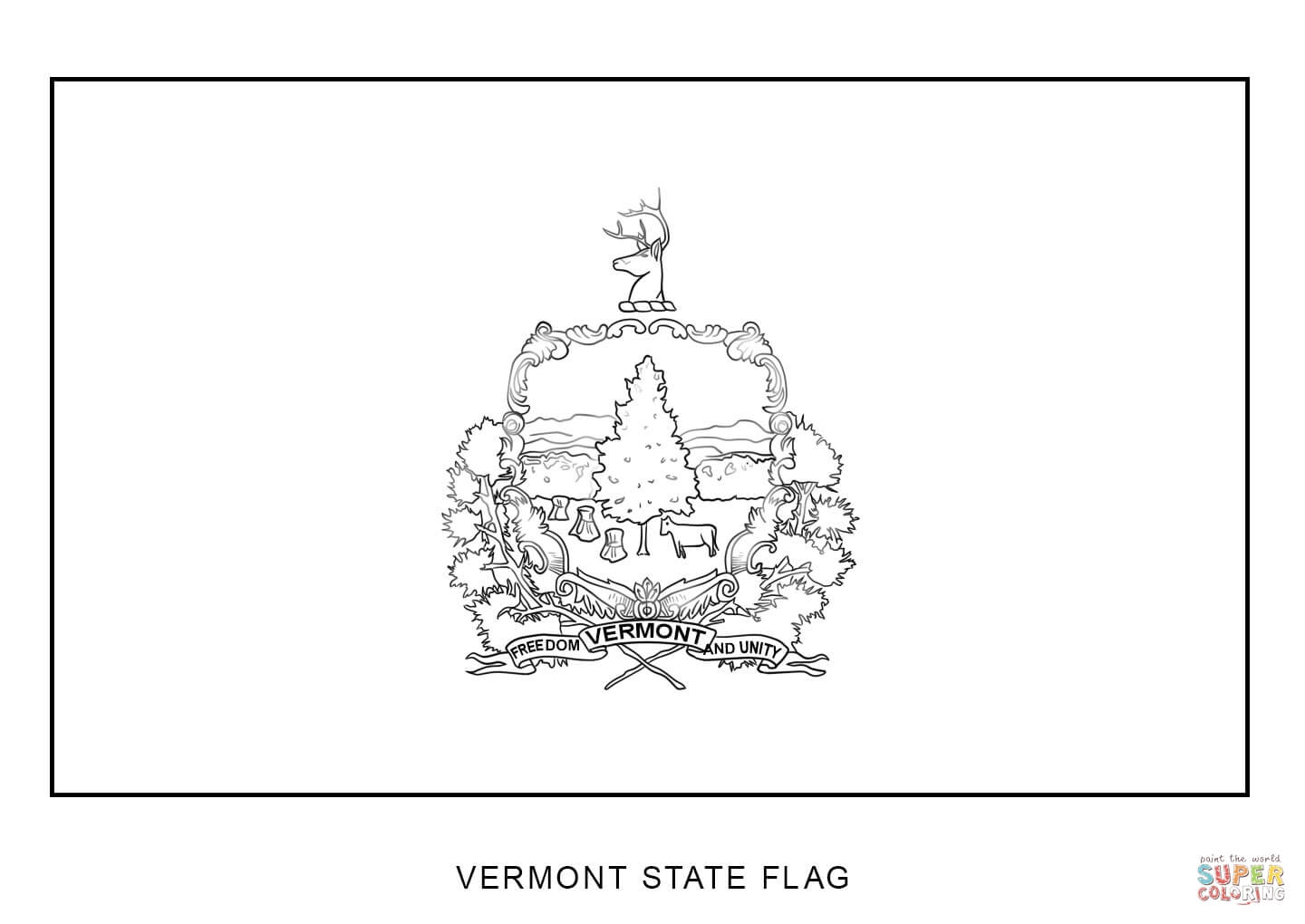 vermont state flag coloring page vermont state flag coloring page vermont page coloring state flag
