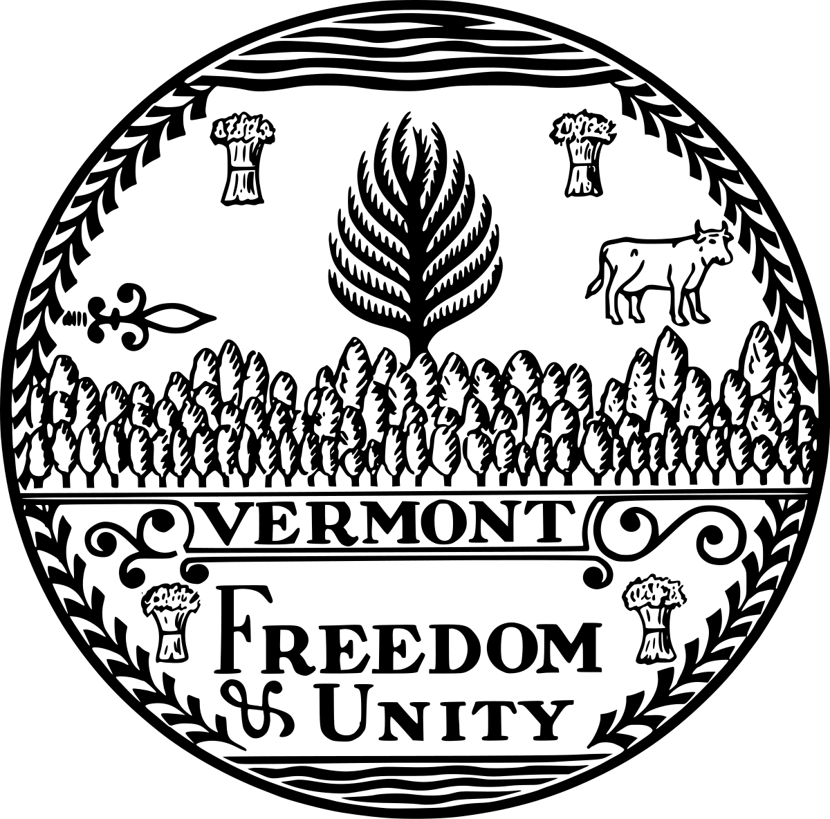 vermont state seal seal of vermont clipart etc seal vermont state