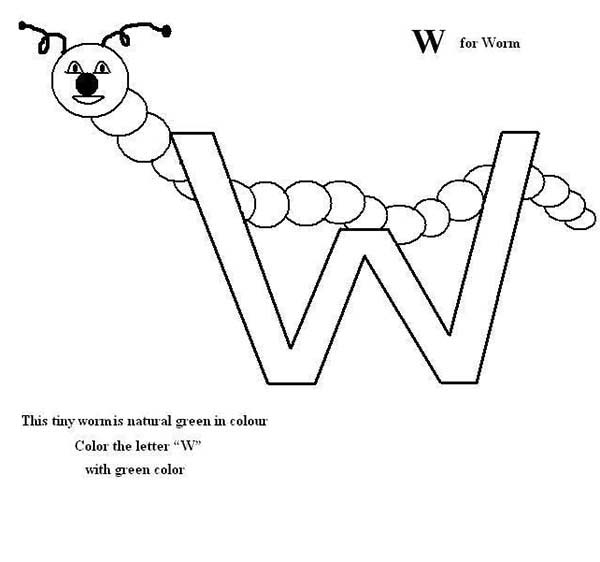 w is for worm coloring page abc coloring pages w worm coloring pages printablecom for page coloring is worm w