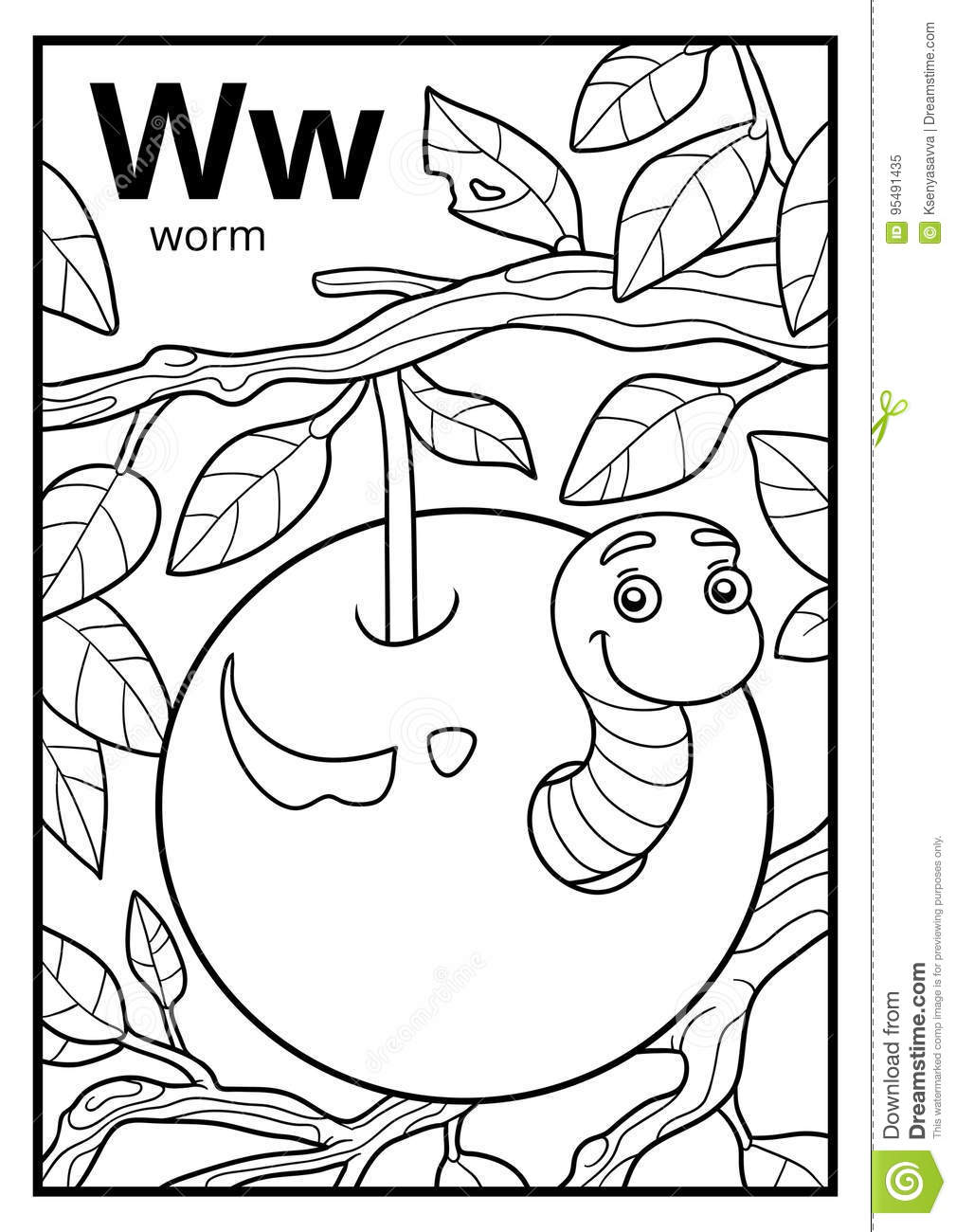 w is for worm coloring page worm is for letter w coloring page bulk color in 2020 worm w coloring page for is