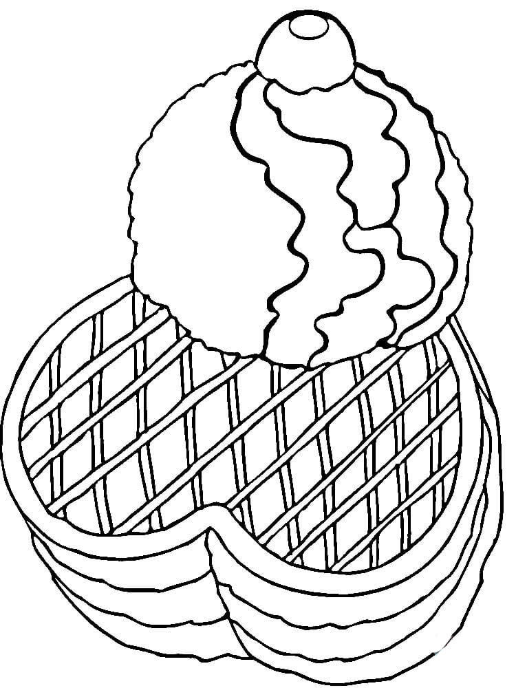 waffle coloring page full page image with words coloring page waffle