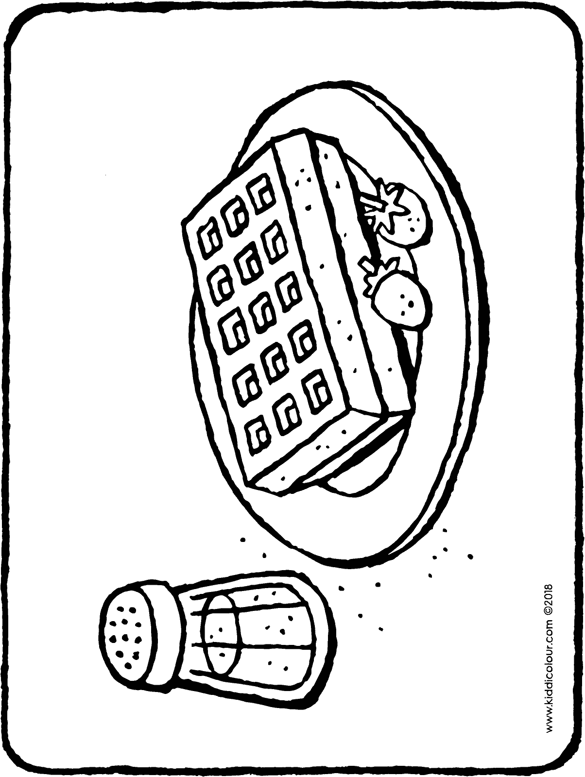 waffle coloring page waffle coloring page at getdrawings free download coloring page waffle