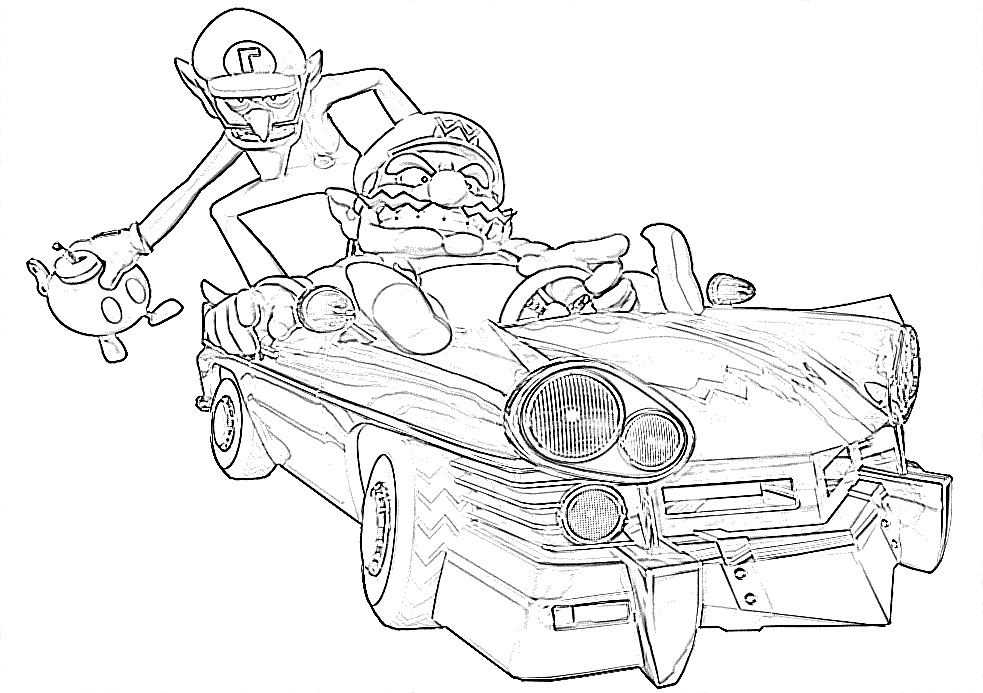 wario pictures to color deviantart more like wario and waluigi partners crime to color wario pictures