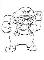 wario pictures to color free printable wario coloring pages color pictures wario to