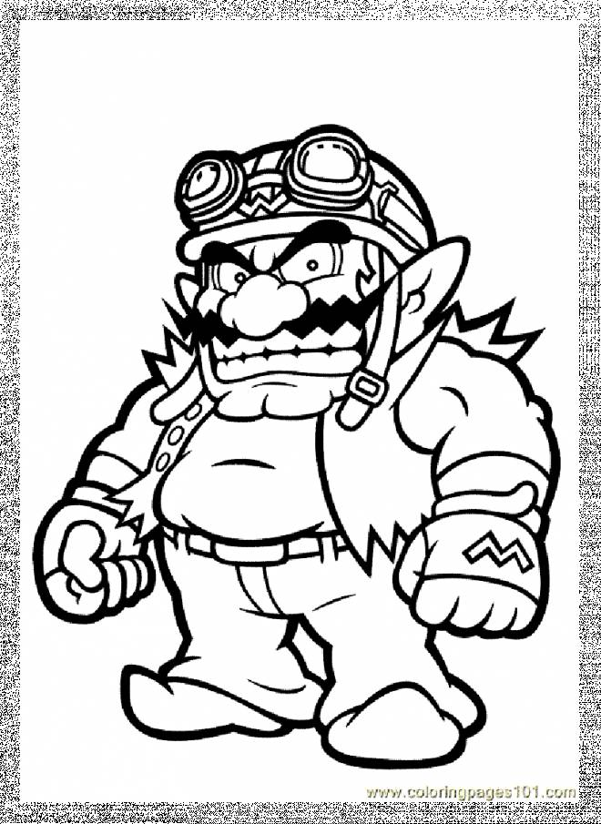 wario pictures to color nintendo free colouring pages color pictures wario to