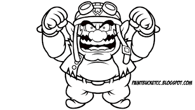 wario pictures to color paint bucket coloring pages and pixel art 2017 pictures wario color to