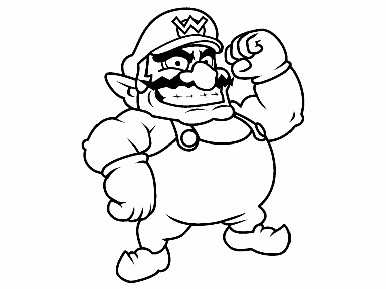 wario pictures to color wario coloring pages coloring home pictures wario to color