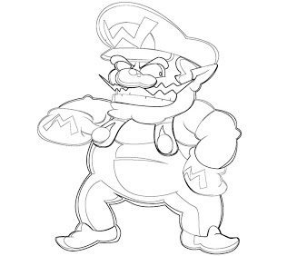 wario pictures to color wario free coloring pages to pictures wario color