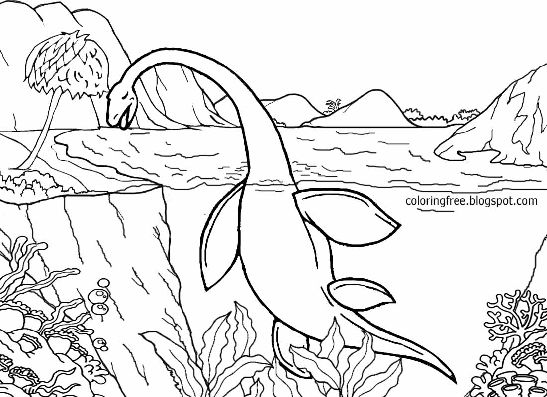 water dinosaur coloring pages free coloring pages printable pictures to color kids coloring dinosaur water pages