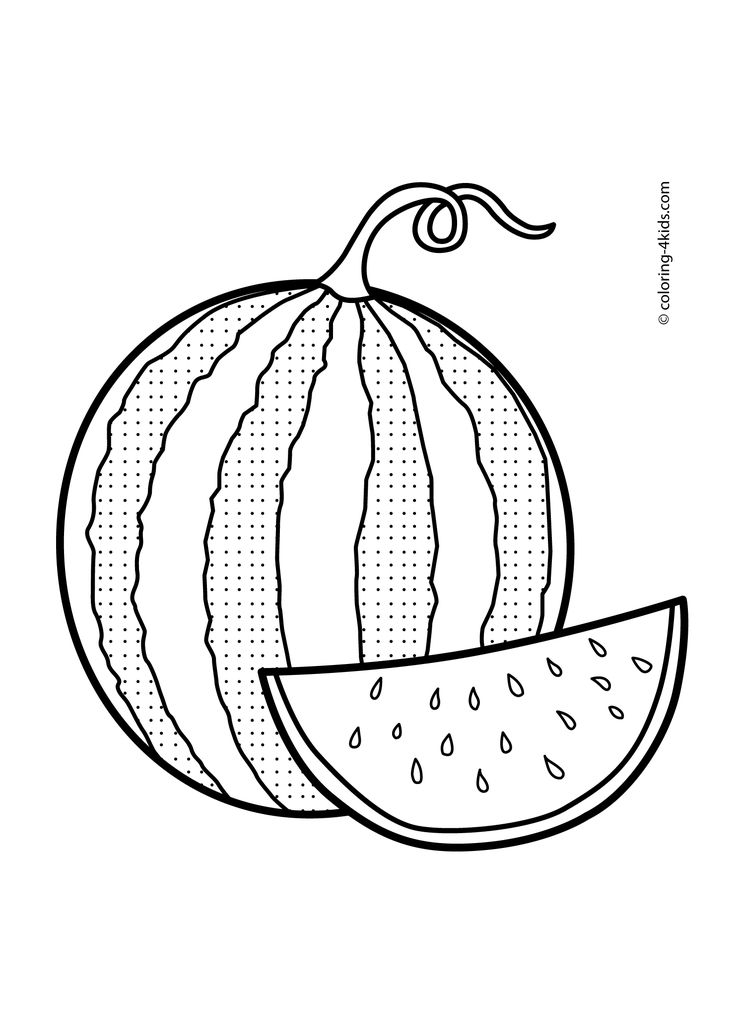 watermelon coloring images 76 best fruits berries and vegetables coloring pages coloring watermelon images