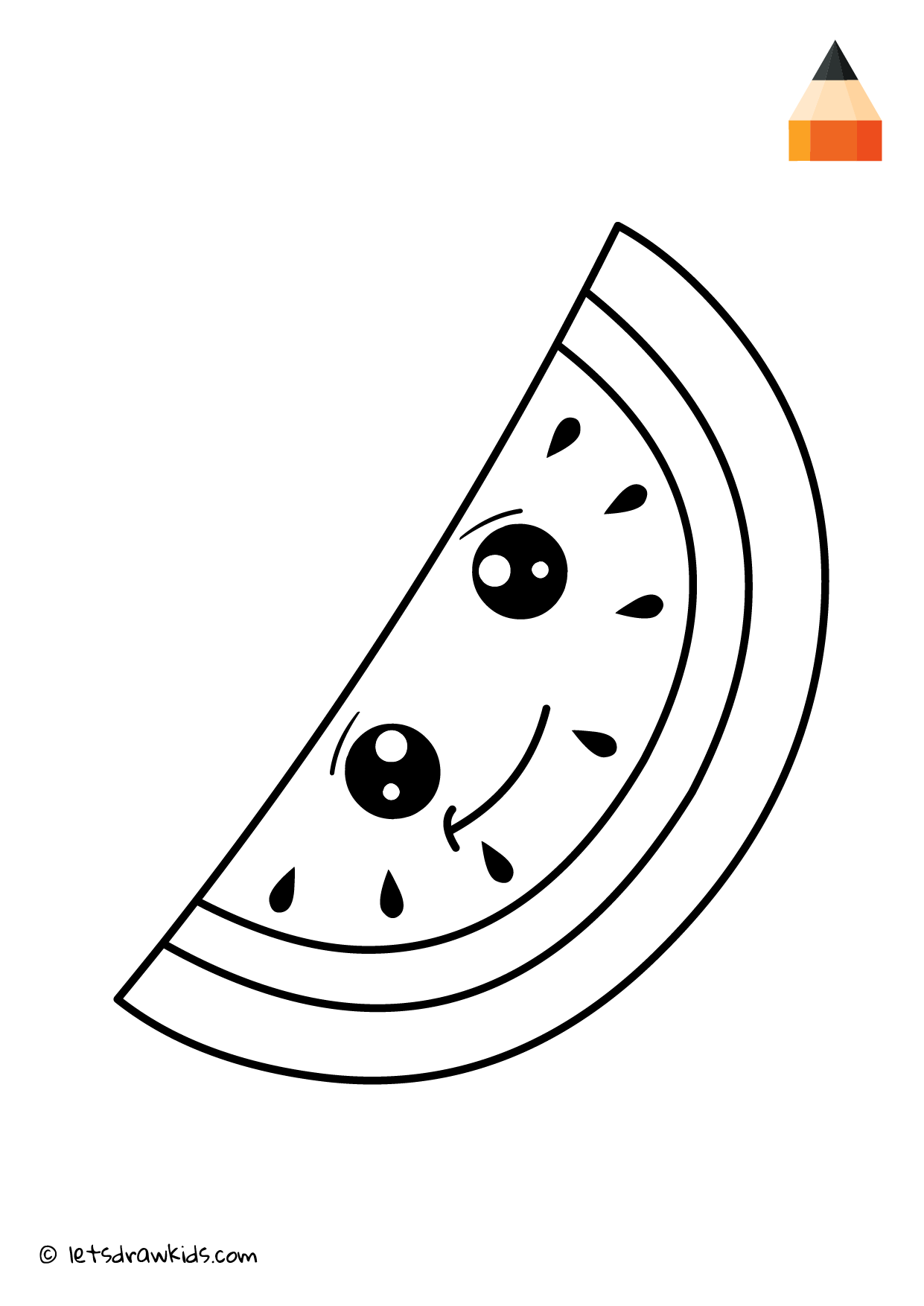 watermelon coloring images coloring page cute watermelon coloring watermelon images