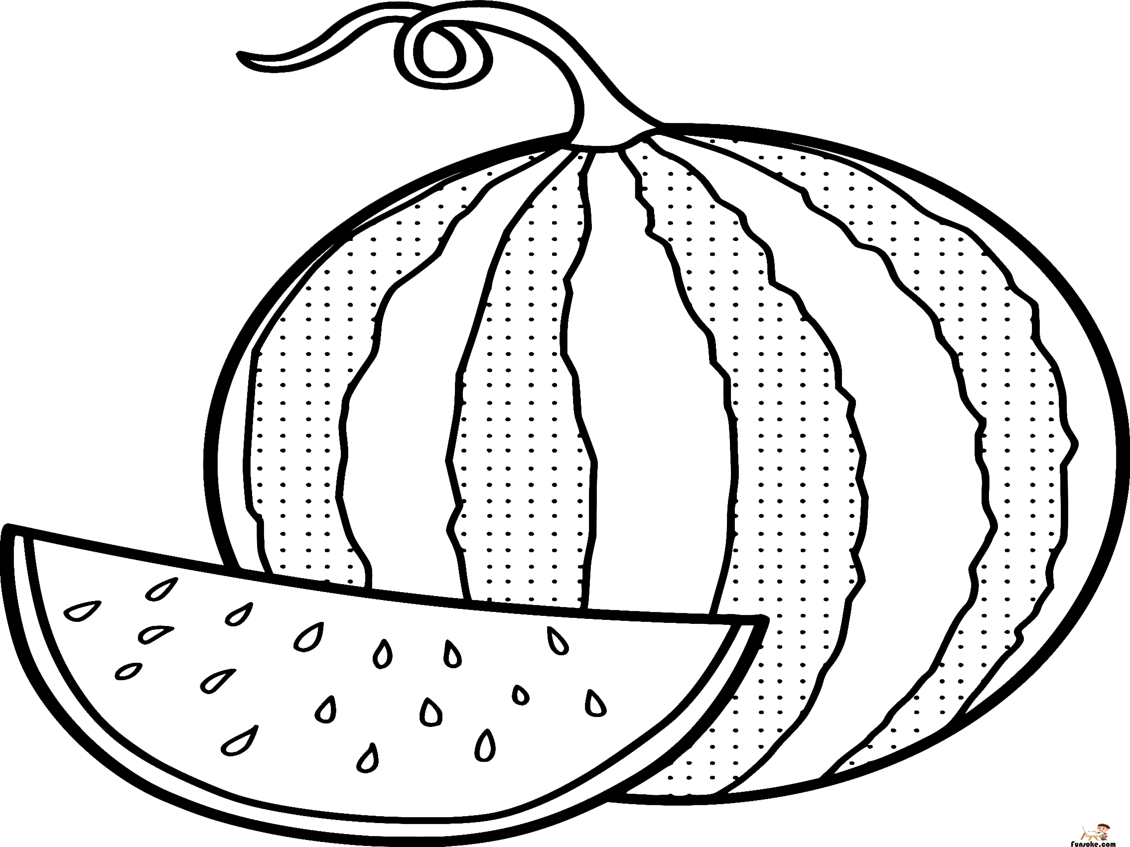 watermelon coloring images watermelon coloring pages preschoolers funsoke images watermelon coloring