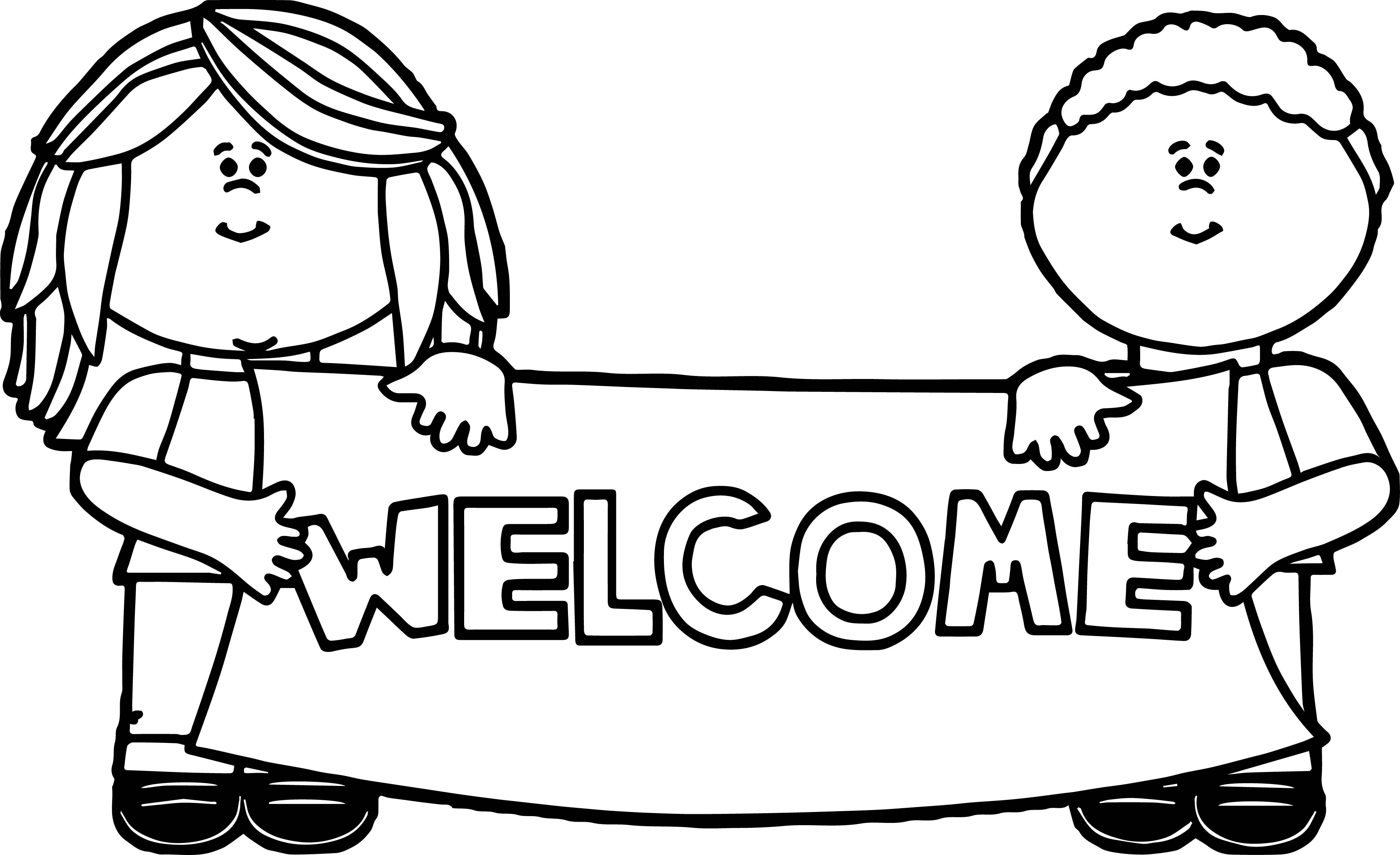 welcome coloring sign welcome sign coloring page coloring pages sign coloring welcome