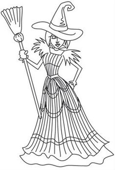wicked witch of the west coloring pages ČarodĚjnice on pinterest halloween coloring pages pages of wicked the west witch coloring