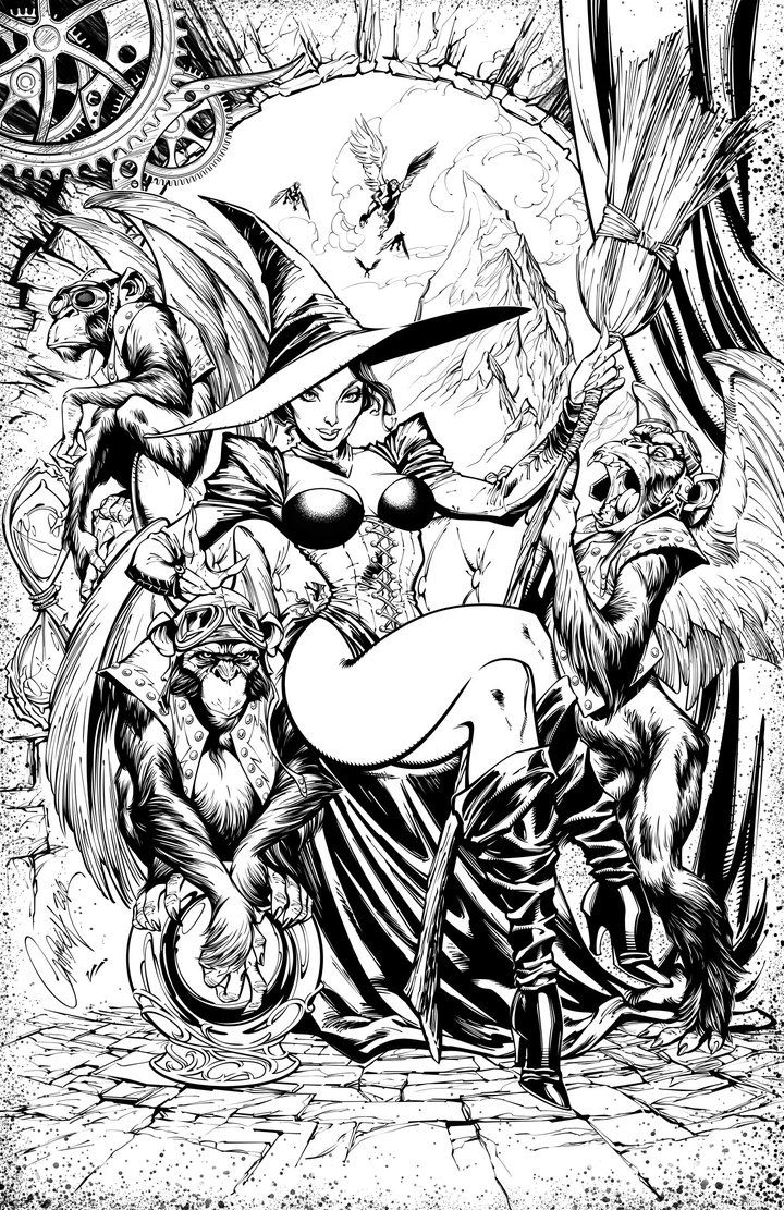 wicked witch of the west coloring pages pin on lineart grimm fairy tales coloring of west the wicked witch pages