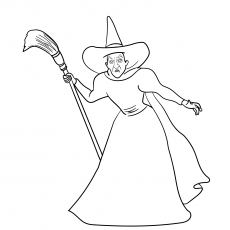 wicked witch of the west coloring pages the best free witch coloring page images download from witch of west wicked coloring the pages