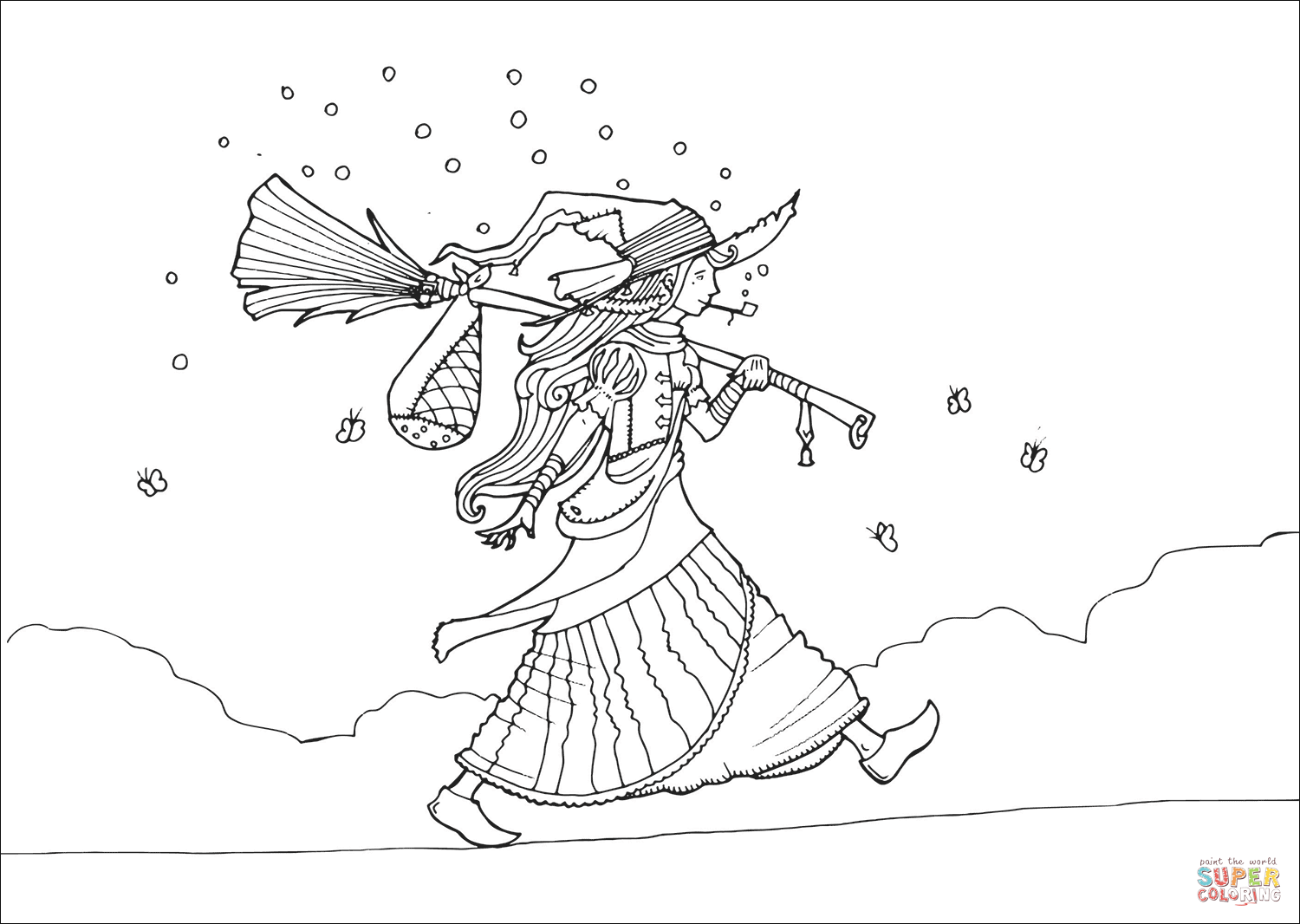wicked witch of the west coloring pages vagabond witch coloring page free printable coloring pages west witch pages wicked coloring the of