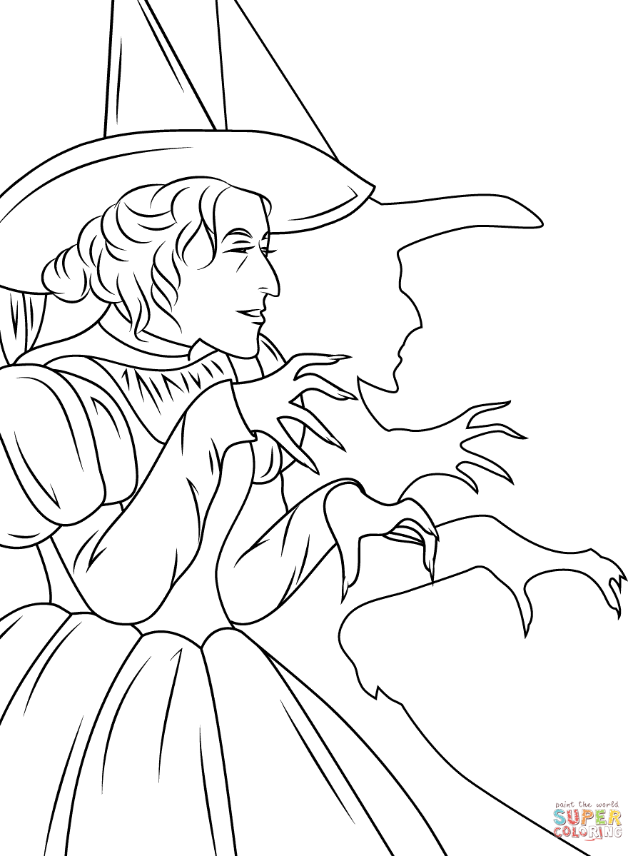 wicked witch of the west coloring pages wicked witch witchy pinterest west the wicked coloring pages witch of