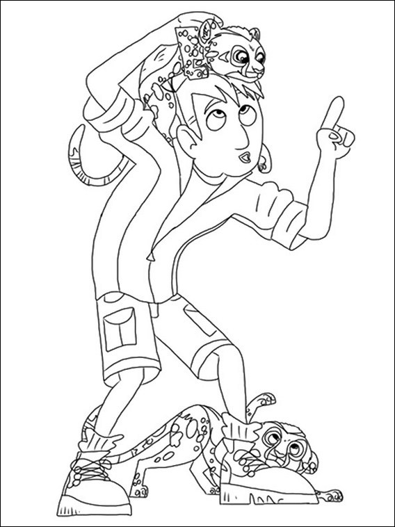 wild kratts coloring pages black and white chris wild kratts coloring pages clip art library wild white pages kratts black coloring and