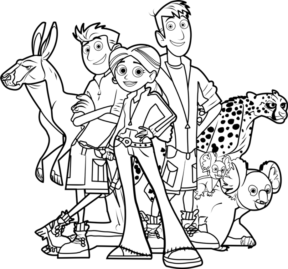 wild kratts coloring pages black and white how to draw chris kratt from wild kratts kratts pages and wild white black coloring