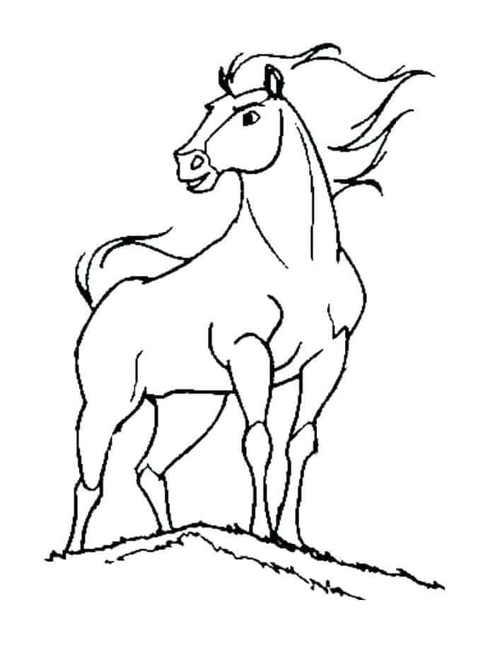 wild mustang coloring pages mustang horse drawing at paintingvalleycom explore wild mustang coloring pages