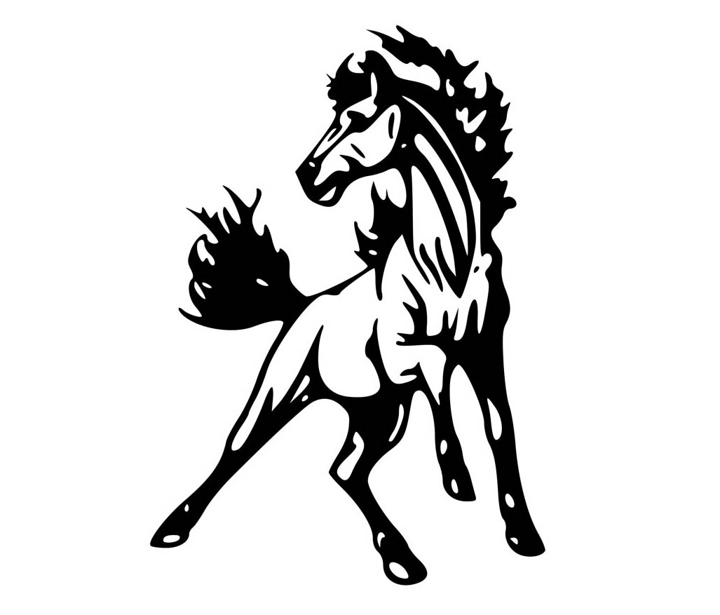 wild mustang coloring pages mustang horse line drawing at getdrawings free download mustang pages coloring wild