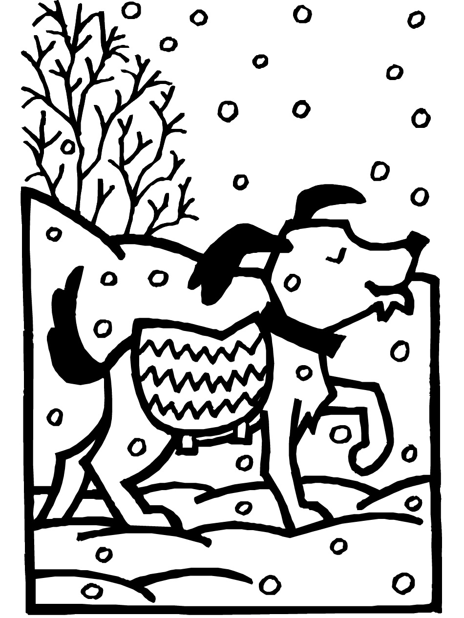 winter animal coloring pages detailed winter coloring pages at getcoloringscom free coloring winter animal pages