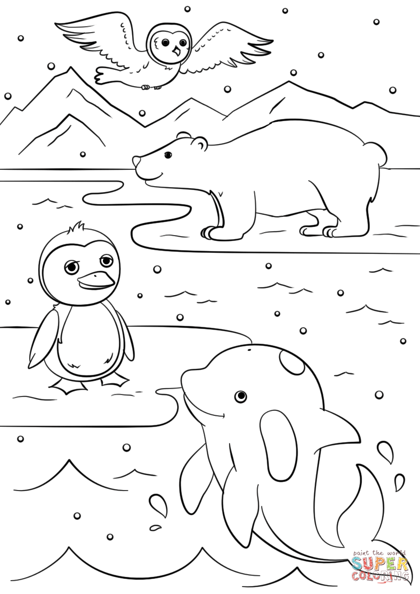 winter animal coloring pages free artic fox coloring page for kids winter coloring winter pages animal coloring
