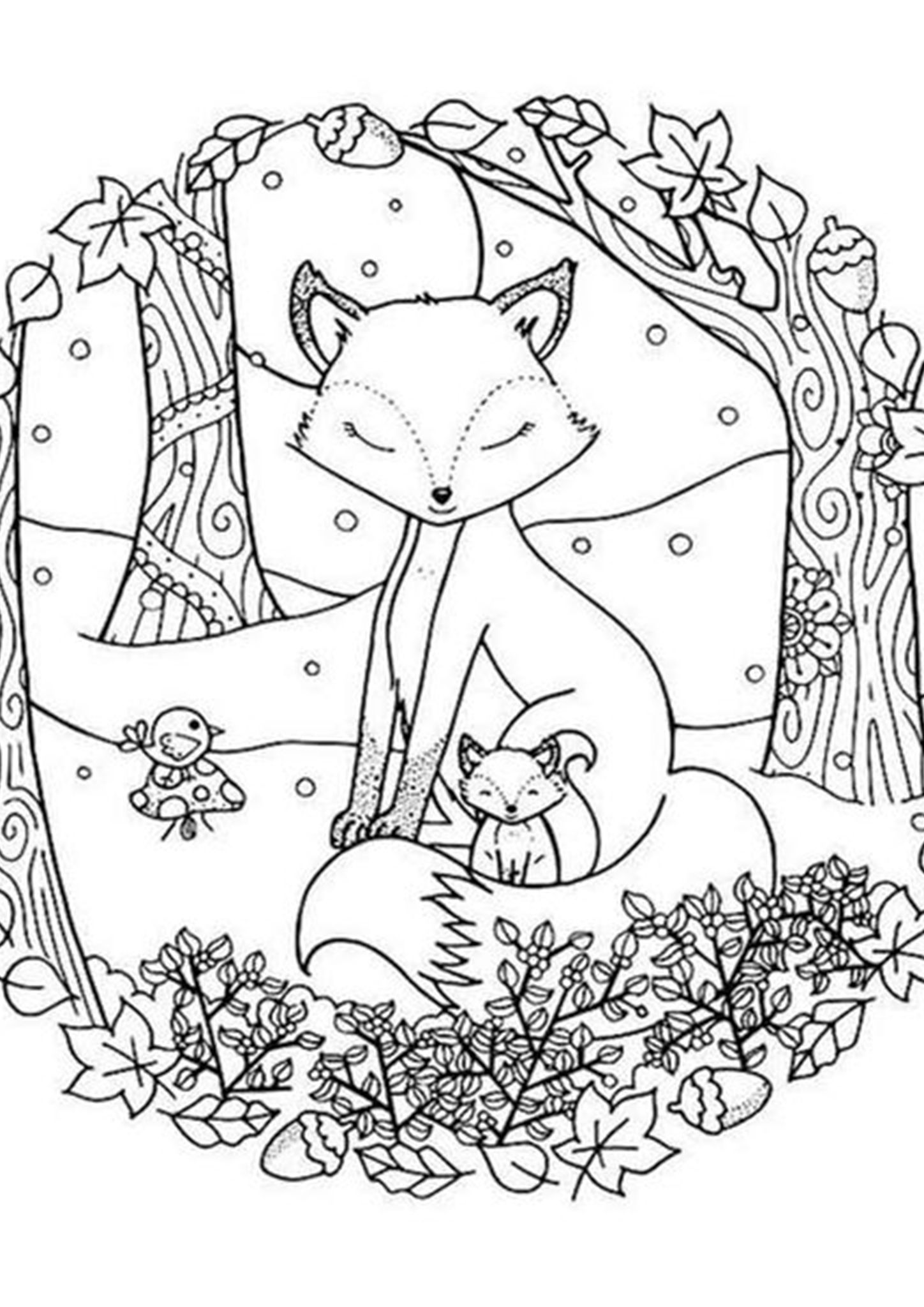 winter animal coloring pages free easy to print fox coloring pages in 2020 with animal winter pages coloring
