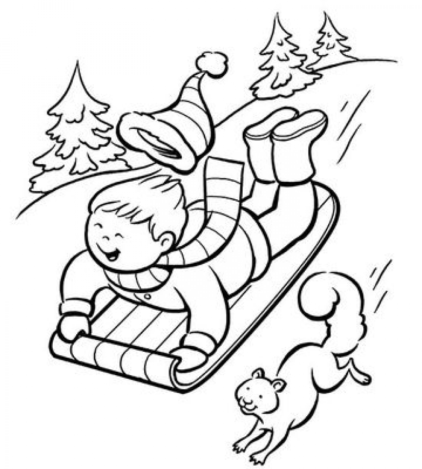 winter coloring sheets printable winter scenes with cute animals coloring page free winter sheets coloring printable