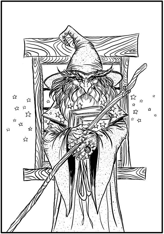 wizard coloring pages download wizard coloring page stamping wizard pages coloring