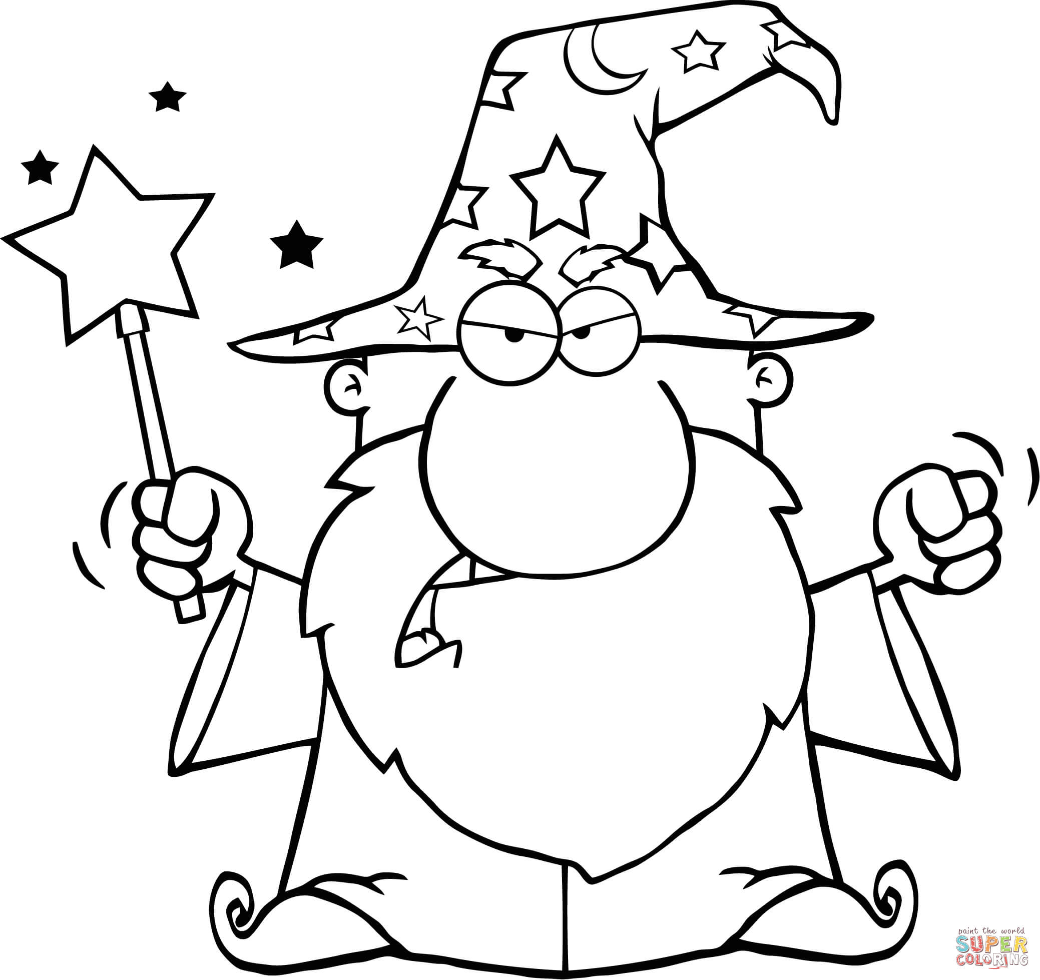 wizard coloring pages friendly wizard with open arms coloring page free wizard pages coloring