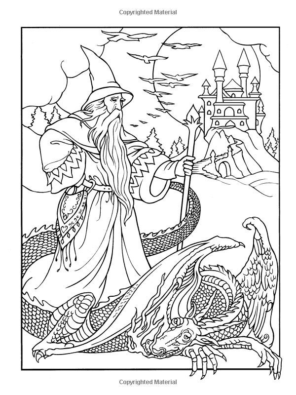wizard coloring pages wizard coloring pages for adults wondrous wizards dover wizard pages coloring