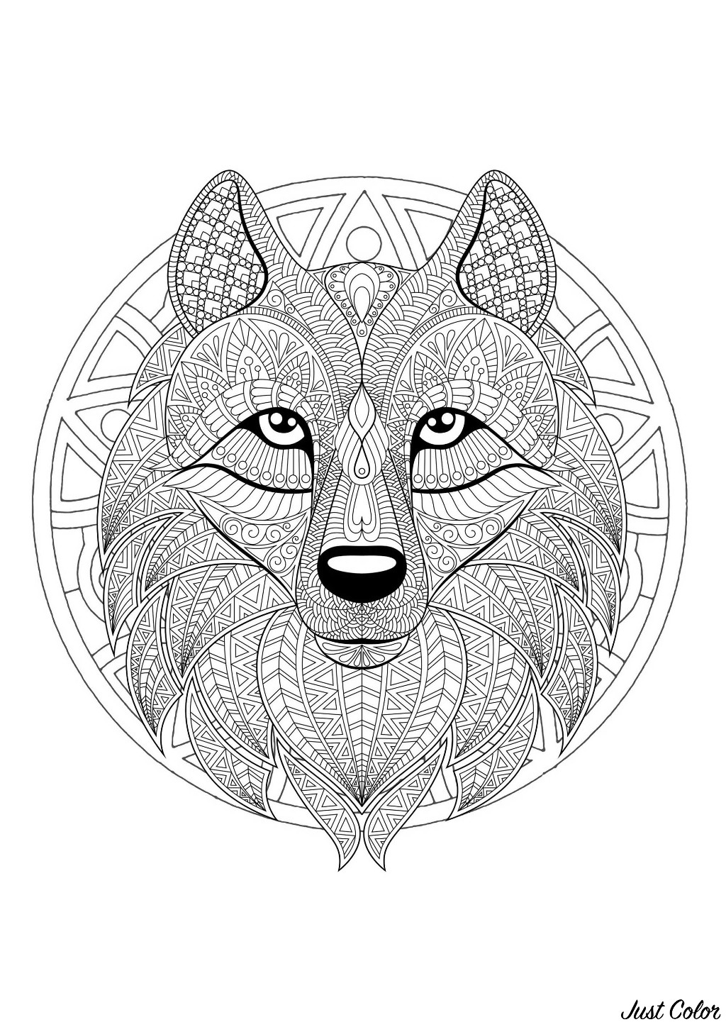 wolf mandala coloring wolf coloring pages for adults best coloring pages for kids mandala wolf coloring