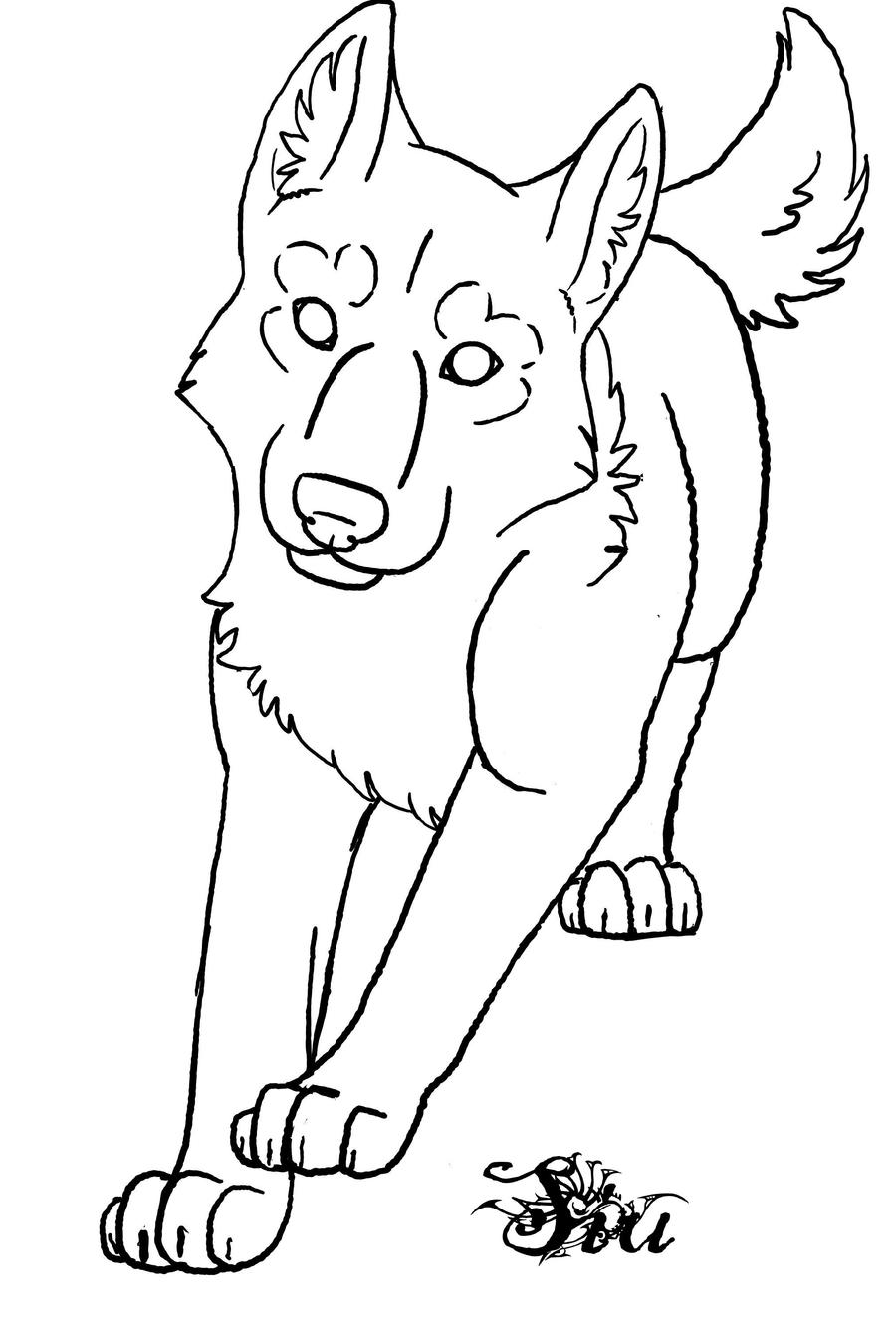 wolf puppy coloring pages wolf puppy outline by thesiubhan on deviantart pages puppy coloring wolf