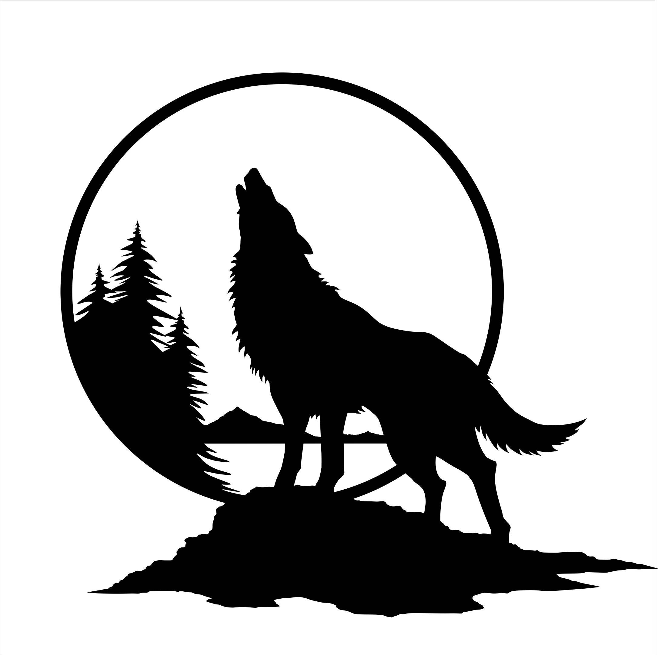 wolf silhouettes howling wolf silhouette clipart best wolf silhouettes