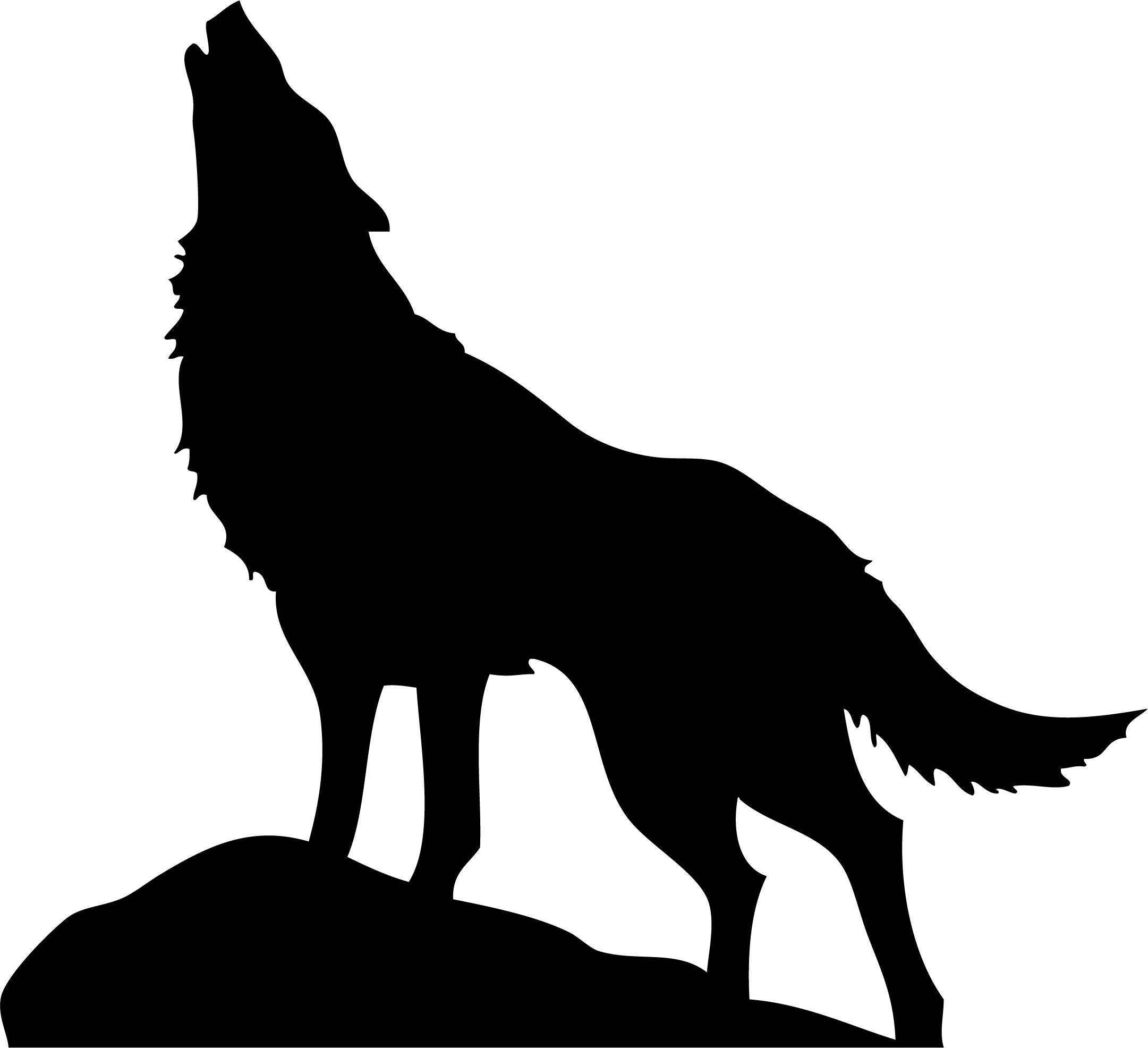 wolf silhouettes howling wolf silhouette vinyl sticker car decal silhouettes wolf