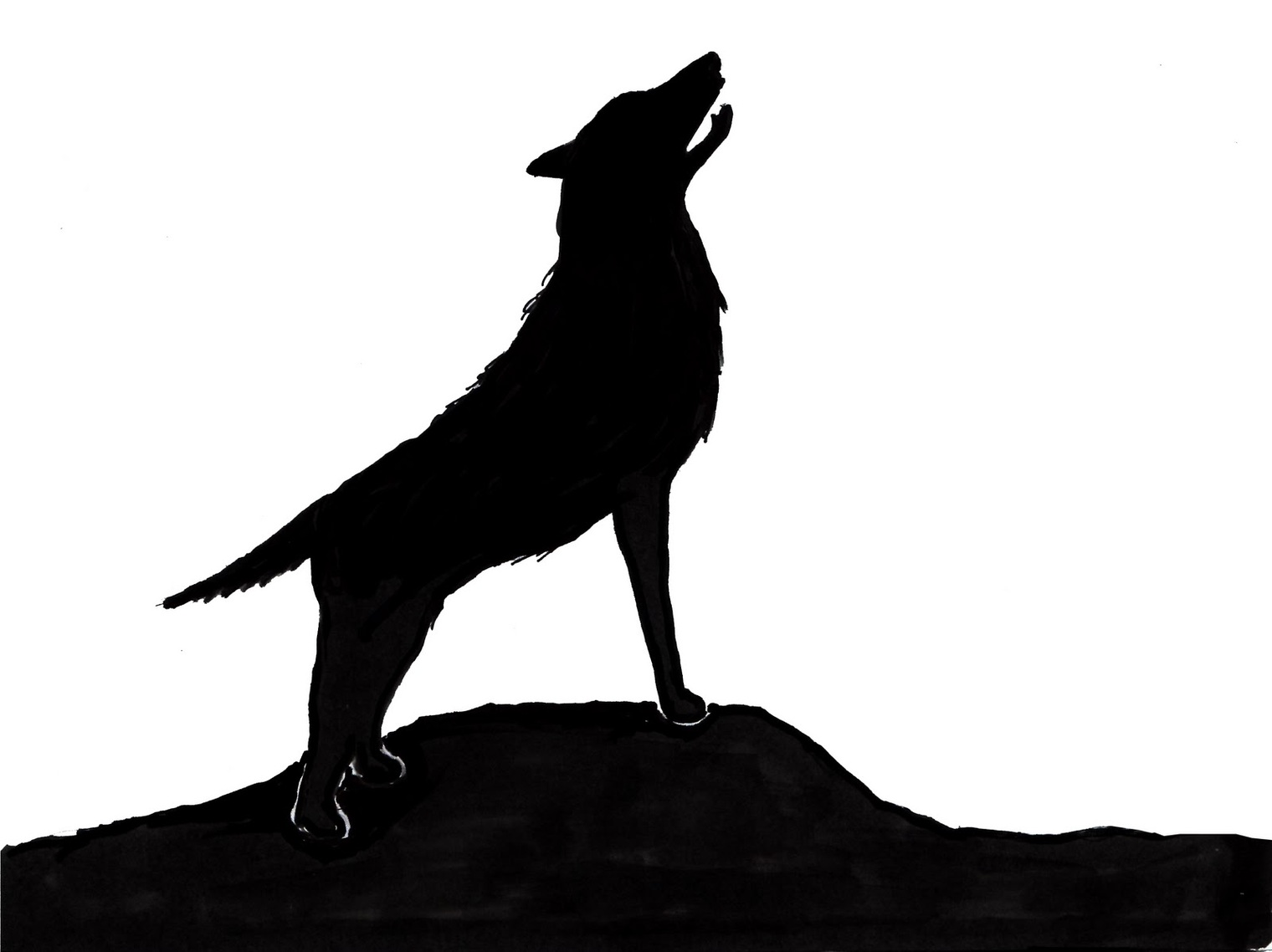 wolf silhouettes quothowling wolf silhouettequot sticker by mrfaulbaum redbubble wolf silhouettes