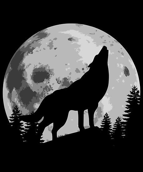 wolf silhouettes quotwolf silhouette howling in the moonquot photographic print wolf silhouettes