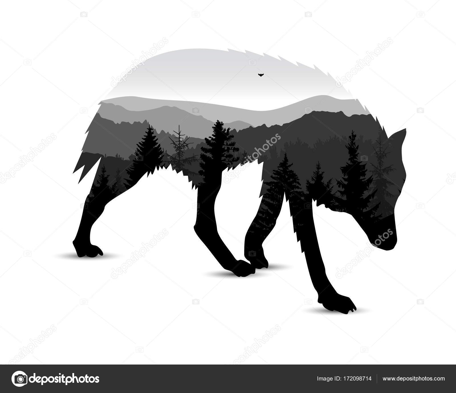 wolf silhouettes silhouette of wolf stock vector yik2007 172098714 wolf silhouettes