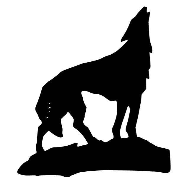 wolf silhouettes wolf standing howling silhouette car decal sticker wolf silhouettes
