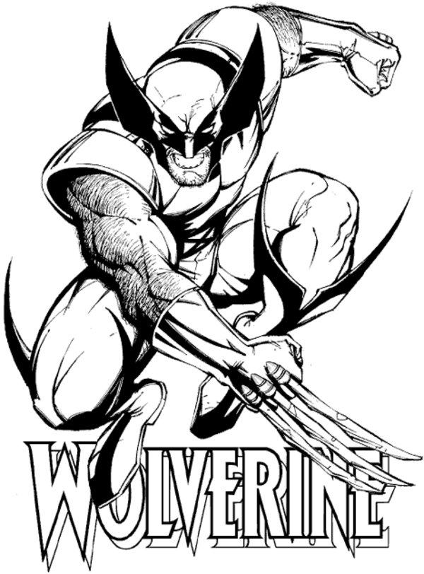 wolverine coloring coloring pages for kids free images wolverine logan free coloring wolverine 1 1